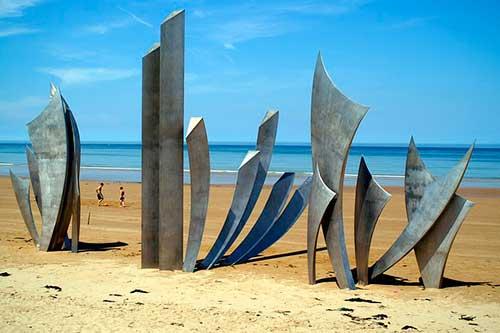 Playa de Omaha en Normandía