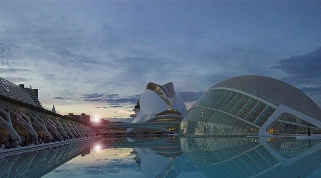 VIsta-de-la-ciudad de las artes y las ciencias valenciana