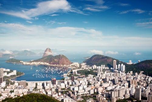 Vista de Río de Janeiro en Brasil