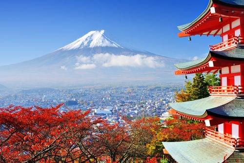 Vista del Monte Fuji en Japon