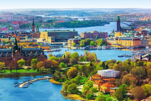 Panorámica de Estocolmo en Suecia