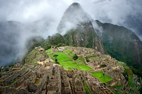 Vista del Machu Picchu en Perú