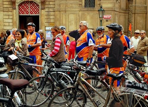 Ciclistas en Praga
