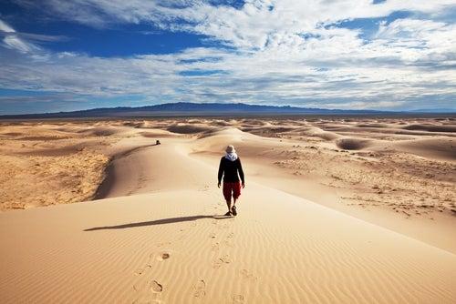 Desierto Gobi, uno de los desiertos más grandes.