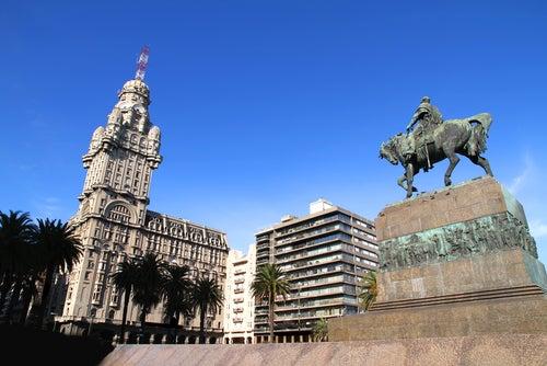 Vista de Montevideo en Uruguay