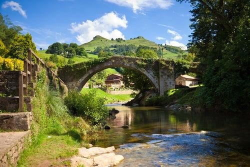 Puente en Liérganes en Cantabria