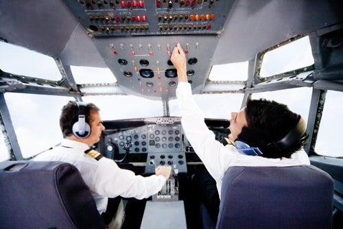 Cabina de un avion