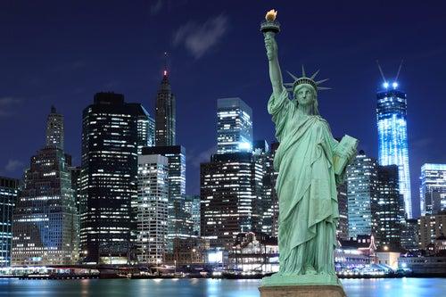Nueva York con la Estatua de la Libertad
