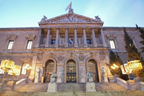 Fachada dela Biblioteca nacional de España