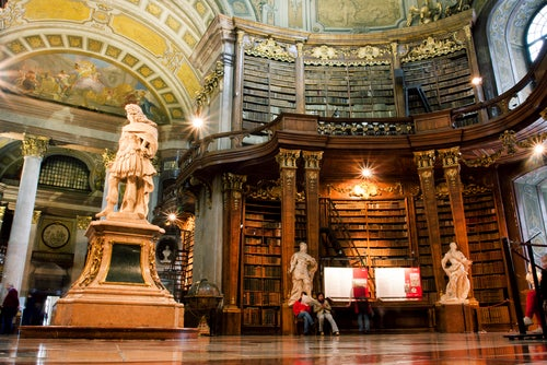 Interior de la Biblioteca Nacional de Austria