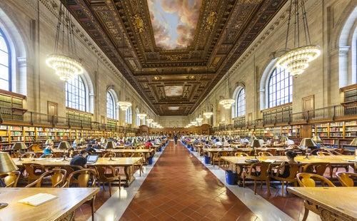 Interior de la Bilioteca Pública de Nueva York