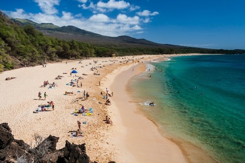 Playa en Maui en Hawaii