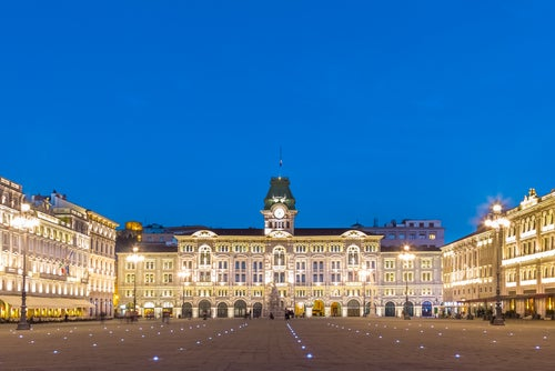 Plaza de la República en Trieste