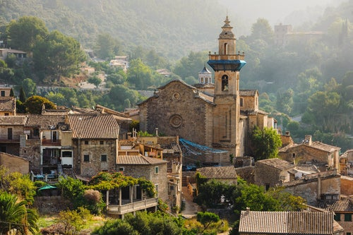 Vista de Valldemossa en Mallorca