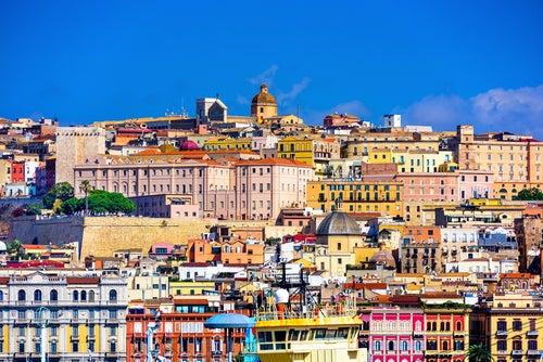 Vista de Cagliari en cerdeña