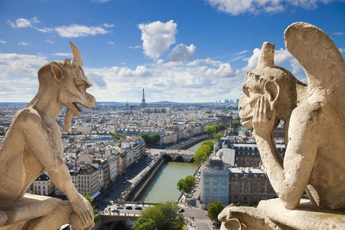 Gárgolas en Notre Dame de París