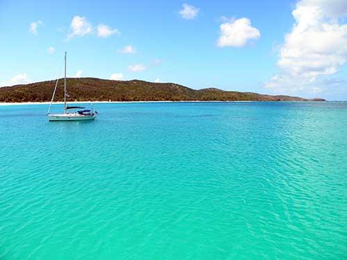 Bahía en Isla Culebra