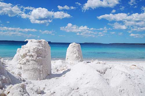 Arena blanca en Hyams Beach