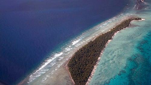Vista aérea de las Islas Marshall