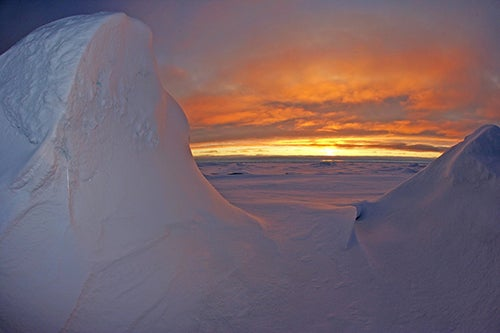 Noche en la Antartida