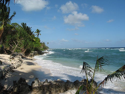 Playa en Kiribati