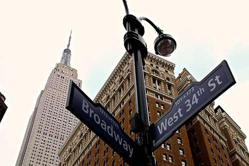Señales de calles en Nueva York