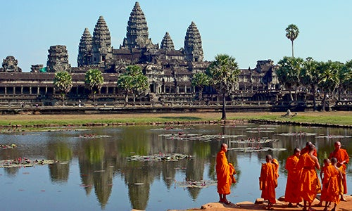 Templos de Angkor Wat en Camboya