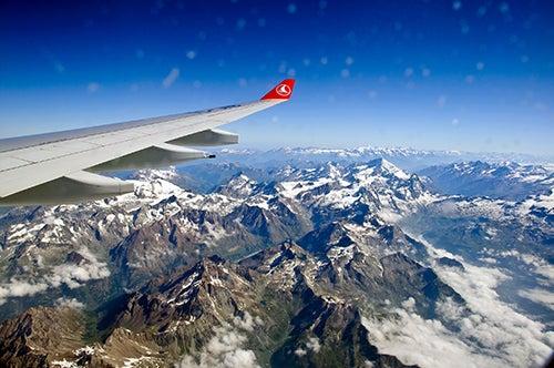 Vista de los Alpes en los mejores meses para viajar