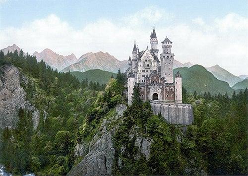 Vista del castillo de Neuschwanstein