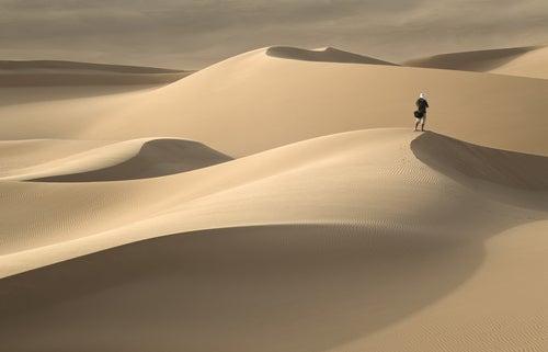 Dunas de arena en el Desierto del Sáhara.
