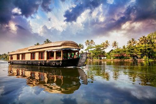 Paisaje de Kerala en la India