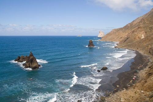 Playa de Benijo en Canarias