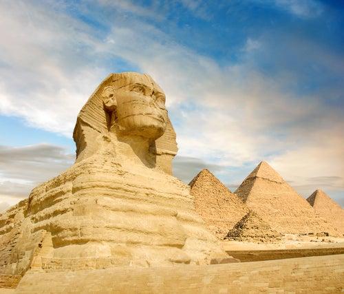 Panorámica de las pirámides de Egipto