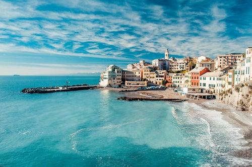 Vista de Bogliasco en Italia