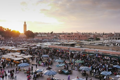 Zoco de Marrakesch en Marruecos