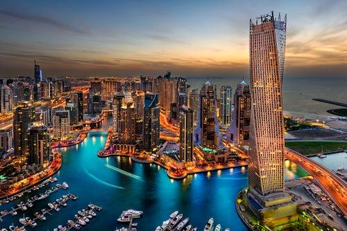 Vista aérea de Emiratos árabes