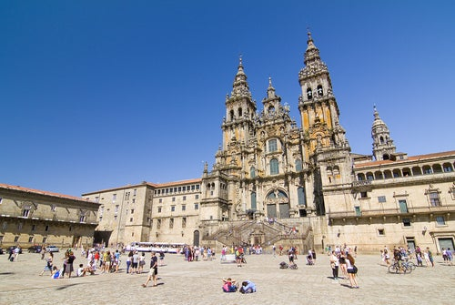 La hermosa catedral de Santiago de Compostela