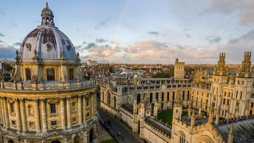 Vista aérea de la universidad de Oxford