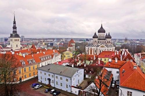 Vista de Tallín en Estonia