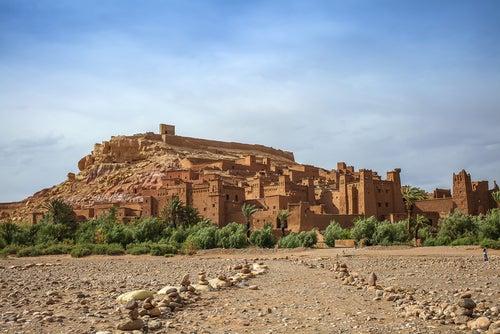 Vista de Ait Ben-Haddou en Marruecos