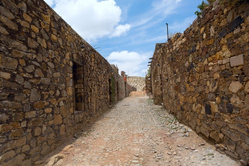 Calle de Real de Catorce en México