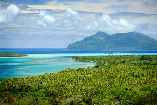 Vista hermosa de la playa en Vanuatu
