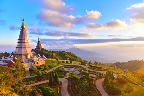 Templo en Chiagn Mai en Tailandia