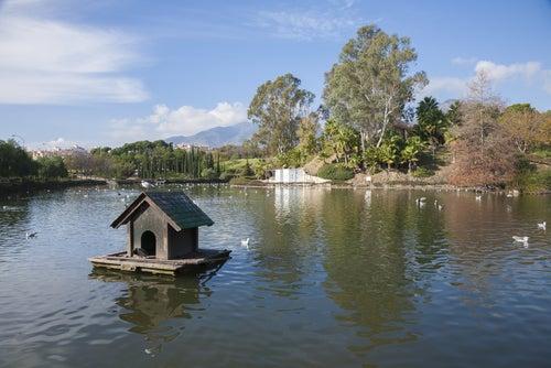 Lago en el Parque de la Paloma