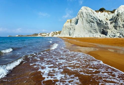 Xi Beach en Grecia