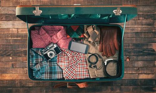 Compartimentos para preparar la maleta