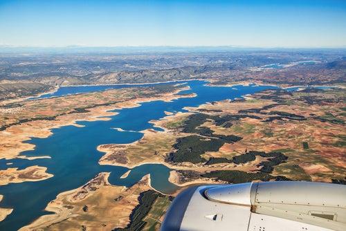 Paisaje desde la ventanilla de un avión