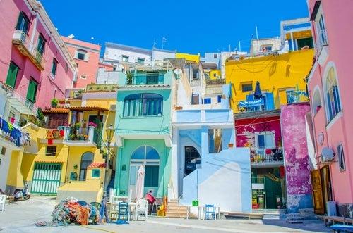 Casas de colores en Procida