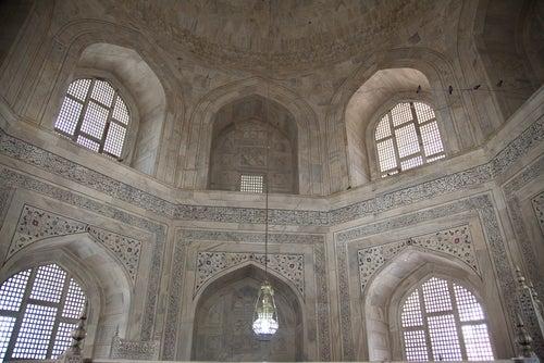 Interior del Taj Mahal.