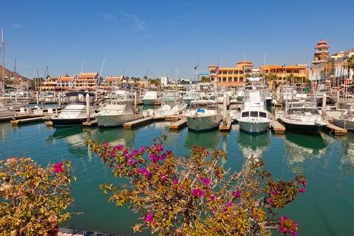 Puerto en Cabo San Lucas en México